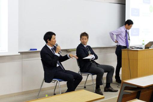 サンフレッチェ広島の元選手、中島氏と森崎氏が来学!