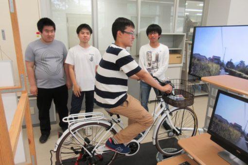 【機械システム工】松永を走る!自転車シミュレータ完成!