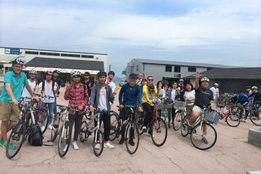 【国際センター】留学生部主催しまなみサイクリングツアー無事終了!