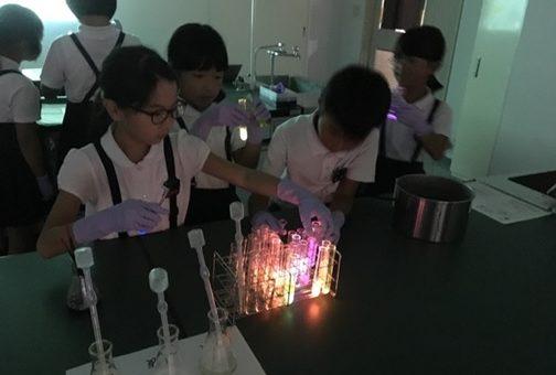 【薬学部】福山市立東村小学校との連携理科実験教室