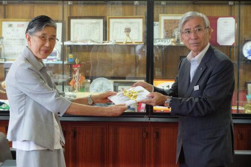 【福山大学】株式会社中電工から寄付金目録の贈呈!