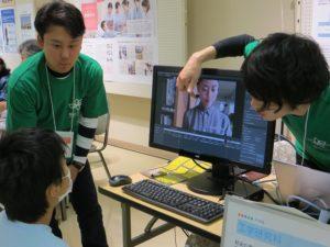 福山大学CMを見ているときの視線計測体験