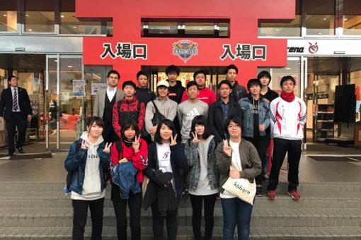【経済学科】広島ドラゴンフライズ試合会場でのサービスラーニング