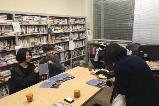 【メディア・映像学科】「学生レポート」映画会の新聞取材を受けて!