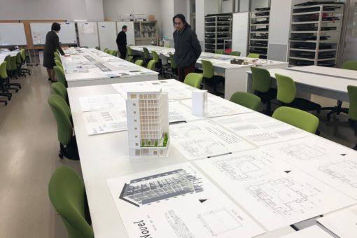 【建築学科】平成30年度の学年製図賞の選考が行われました!