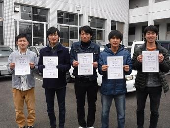 【機械システム工学科】機械設計技術者3級試験に5人合格!