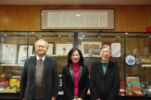 【孔子学院】石慧敏副学院長が学長室を訪問
