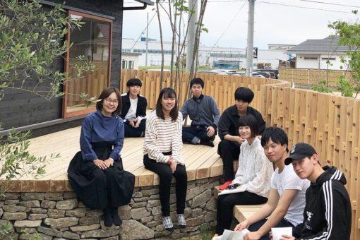 【建築学科】後藤亜貴先生設計の「ライステラスの家」をゼミで見学