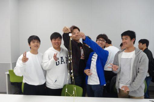 【建築学科】新入生オリエンテーション ビルディングタワーコンテスト開催!