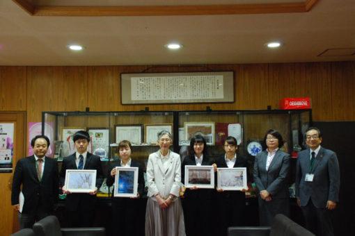 【キャンパス】第8回「福山大学の桜」ミニフォトコンテストの表彰式挙行!