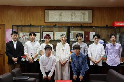 【サークル】三蔵祭運営実行委員会の各部長が学長室を訪問!