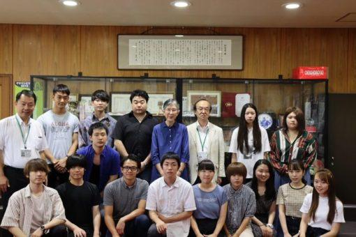【国際交流】留学予定学生が学長室を訪問!