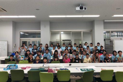 【建築学科】びんご建築女子が「夏休み子ども建築模型教室」を開催`!