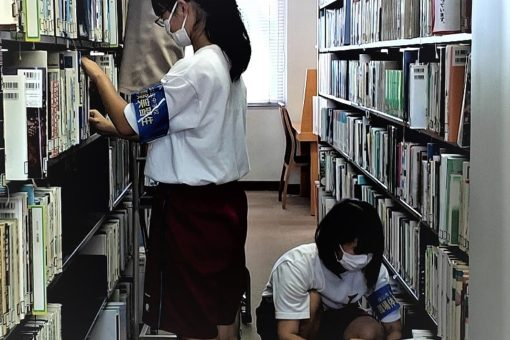 【附属図書館】地元中・高生、図書館で職場体験!