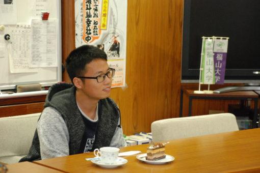 【学長室】学生の学長室訪問~その2~