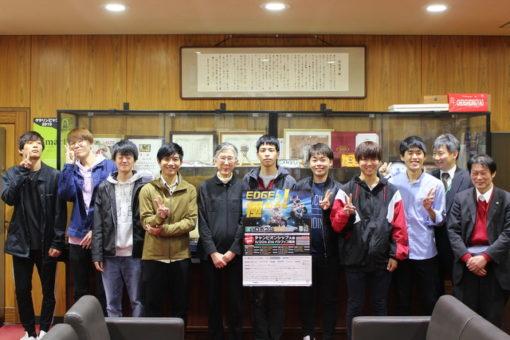 【スマートシステム学科】ETロボコン全国大会出場の報告で学長室訪問!