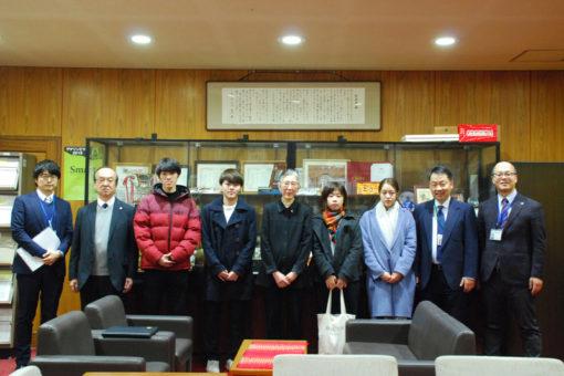 【国際交流】留学予定学生たちが学長室を訪問!