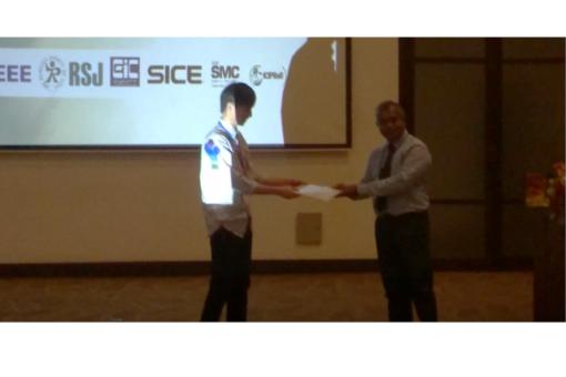 【情報工学科】4年生の学生が国際会議でBest Student Paper Awardを受賞!