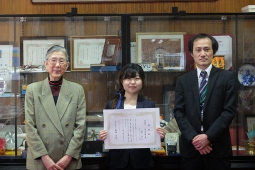 【薬学部】2年連続!中国新聞のキャンパスリポーター最優秀賞を受賞!