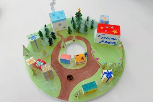 【建築学科】模型の試作をつくって練習しています! びんご建築女子子ども模型教室