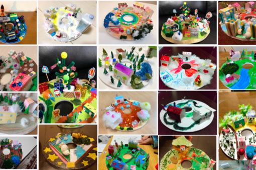 【建築学科】大成功!びんご建築女子のオンライン子ども模型教室