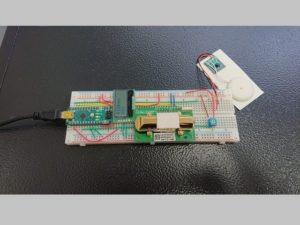 工学部オリジナルの二酸化炭素酸濃度警報機