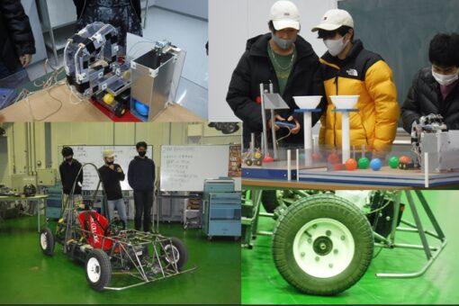 【機械システム工学科】ロボットデザイン&EV創作の発表会を実施!