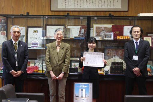薬学生が中国新聞キャンパスリポーター賞!3年連続の快挙!