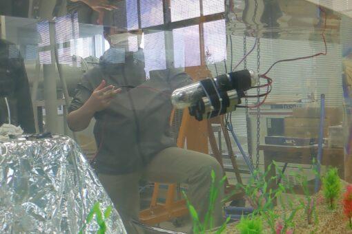 【機械システム工学科】卒業研究の成果-水中ロボットが潜航!