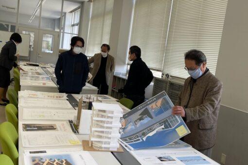 【建築学科】学年製図賞の審査が行われました!