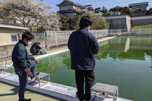 【機械システム工学科】水中ロボットをプールで実証実験