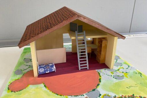 【建築学科】びんご建築女子による「夏休み子ども模型教室」を準備中!