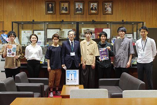 【大学教育センター】「キャリアデザインゼミ」の新メンバーが学長室を訪問!