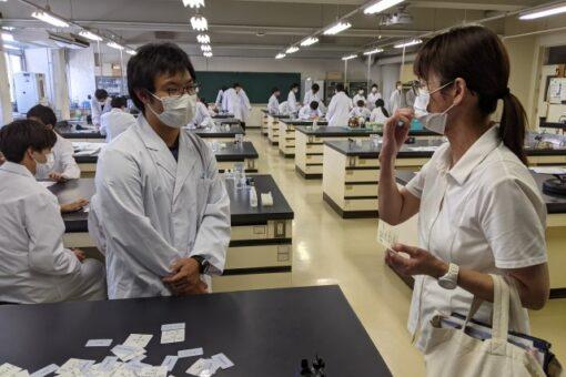 【生物工学科】教え子との思わぬ再開!