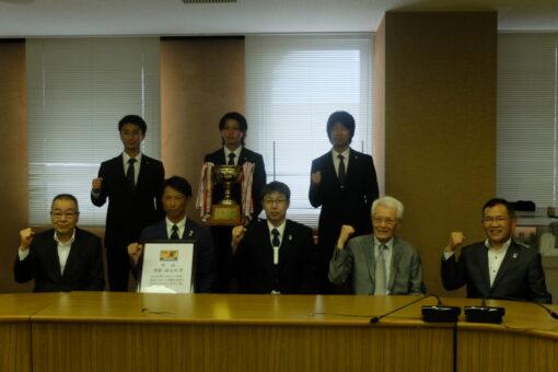 【サークル】学友会サッカー部が福山市長に全国大会への出場を報告!